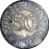 50 Pfennig (Schneidemühl; P.O.W. Camp Coinage) – avers