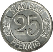 25 pfennig (Bonn ; Ludwig van Beethoven) -  avers