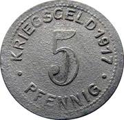 5 pfennig (Elberfeld) – revers