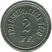 2 Pfennig (Ohrdruf) [POW, Sachsen-Coburg-Gotha) – revers