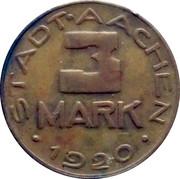 3 Mark (Aachen) – avers