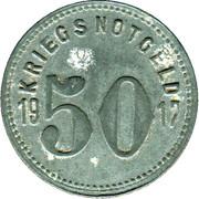 50 Pfennig (Speyer) [Kreishauptstadt, Rheinprovinz] – revers