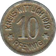 10 Pfennig (Wittlich) [Kreis, Rhineprovinz] – avers