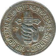 50 Pfennig (Solingen) [Gemeinden, Rheinprovinz] – avers