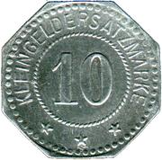 10 Pfennig (Duisburg) [Private, Rheinprovinz, Firma Peter Fix Söhne GmbH] – revers