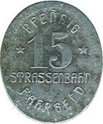 15 Pfennig (Mülheim an der Ruhr) [Strassenbahn, Rheinprovinz] – revers