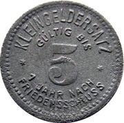 5 Pfennig (Schmölln) [Stadtrat, Sachsen-Altenburg] – revers
