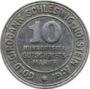 10/100 gutschriftsmarke (Schleswig-Holstein) – avers