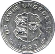 5/100 gutschriftsmarke (Schleswig-Holstein) – revers