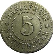 5 Pfennig Neumünster [Private, Schleswig-Holstein, Bankverein] – avers