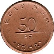 50 Pfennig (Boldixum auf Föhr) [Stadt, Schleswig-Holstein] – avers