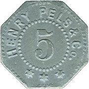 5 Pfenning (Erfurt) [Private, Sachsen, Henry Pels & Co.] – avers