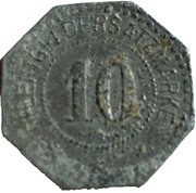 10 Pfennig (Mühlberg) [Gemeinde, Sachsen] – revers