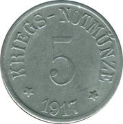 5 Pfennig (Bergzabern) [Stadt, Pfalz] – revers
