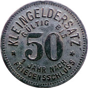 50 Pfennig (Schmölln) [Stadt, Sachsen-Altenburg] – revers