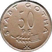 50 Pfennig (Gotha) [Stadt, Sachsen-Gotha] – avers