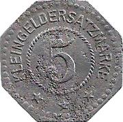 5 Pfennig (Steinach) – revers