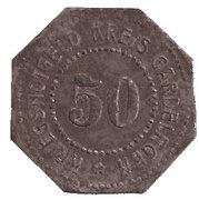 50 Pfennig (Gardelegen) [Kreis, Provinz Sachsen] – revers