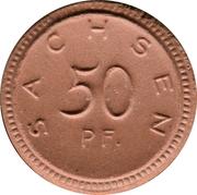 50 pfennig (Sachsen) – avers