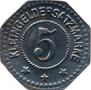 5 Pfennig (Allstedt) [Stadt, Sachsen] – revers