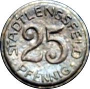 25 Pfennig-Stadtlengsfeld – avers