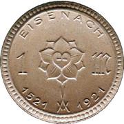 1 Mark (Eisenach) [Stadt, Schlesien-Weimar-Eisenach] – avers