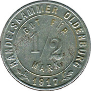 ½ Mark (Oldenburg) – avers