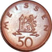 50 Pfennig- Meissen – avers