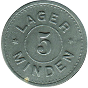 5 pfennig (P.O.W.monnaie de camp - Minden) – avers