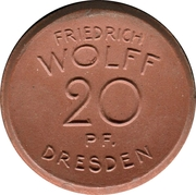 20 Pfennig (Dresden) [Private, Sachsen, Kappel-Schreibmaschine] – avers
