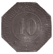 10 Pfennig (Trostberg) [Private, Bayern, Bayer Stickstoffwerke] – revers