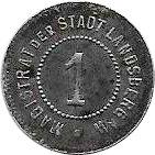 1 Pfennig (Landsberg an der Warthe) [Stadt, Brandenberg – avers