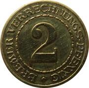 2 Pfennig (Bremen) – revers