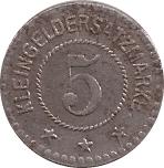 5 Pfennig (Mühlberg) [Gemeinde, Provinz Sachsen] – revers