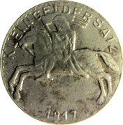 5 Pfennig (Marburg an der Lahn) [Stadt, Hessen-Nassau] 1917 – revers