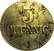 5 Pfennig (Langenschwalbach) [Stadt, Hessen-Nassau] 1919 – revers