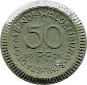 Stadt Gemeinde- Waldenburg 50 Pfennig – avers