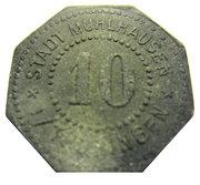 10 pfennig (Mühlhausen) – avers