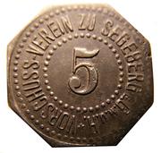 5 Pfennig (Segeberg) – avers