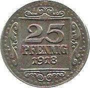 25 pfennig (Münster) – revers