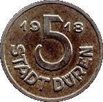 5 pfennig (Düren) – avers