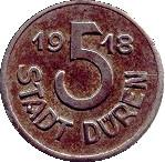 5 pfennig (Düren) – revers