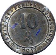 10 Pfennig - Düsseldorf – avers