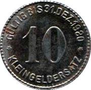 10 Pfennig (Mettmann) – revers