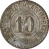 10 pfennig (Königsberg) – revers