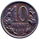 10 Pfennig (Iserlohn) [Stadt, Westfalen] – revers