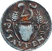 25 Pfennig (Laufen) [Bezirksamt, Bayern] – revers