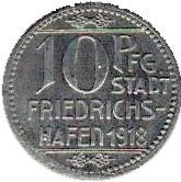 10 pfennig (Friedrichshafen) -  avers