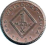 1 Mark Bad Weixdorf-Lausa [Stadt, Sachsen] – revers