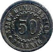 50 pfennig (Gummersbach) – avers